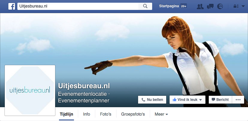 Facebook op de Homepage